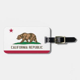 Bandera del estado del oso de la república de Cali Etiqueta De Maleta