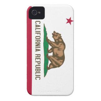 Bandera del estado del oso de la república de Cali iPhone 4 Case-Mate Carcasa
