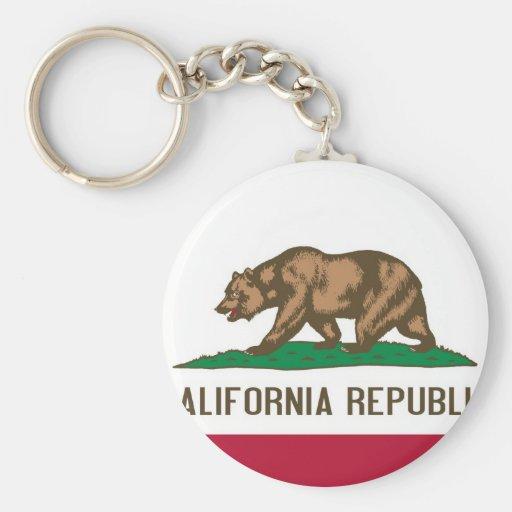 Bandera del estado del oso de la república de Cali Llavero Personalizado