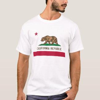 Bandera del estado del oso de la república de playera
