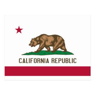 Bandera del estado del oso de la república de postal