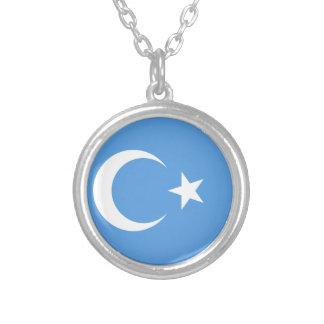 Bandera del este de Turkestan Uyghur Collar Plateado