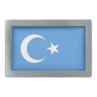 Bandera del este de Turkestan Uyghur Hebilla De Cinturon Rectangular