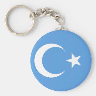 Bandera del este de Turkestan Uyghur Llavero Redondo Tipo Pin