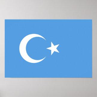 Bandera del este de Turkestan Uyghur Póster