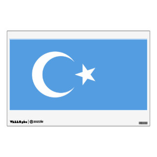 Bandera del este de Turkestan Uyghur Vinilo Adhesivo