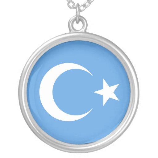 Bandera del este hermosa de Turkestan Colgante Redondo