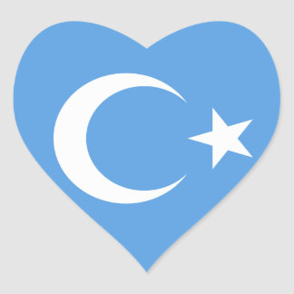 Bandera del este hermosa de Turkestan Colcomanias Corazon