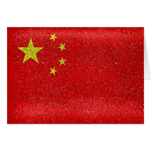 Bandera del estilo del Grunge de China Felicitación