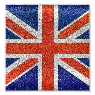 Bandera del estilo del Grunge de Inglaterra Arte Fotográfico
