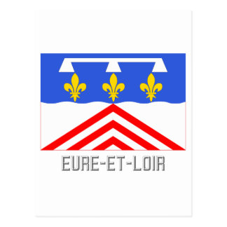 Bandera del Eure-et-Loir con nombre Postales
