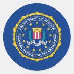 Bandera del FBI Pegatina Redonda