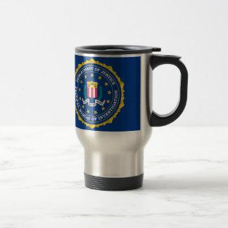 Bandera del FBI Taza De Viaje De Acero Inoxidable