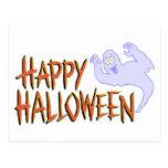 Bandera del feliz Halloween Postal