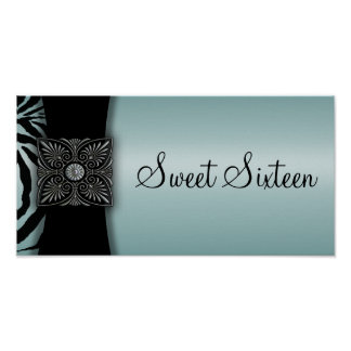 Bandera del fiesta del dulce dieciséis de la cebra impresiones