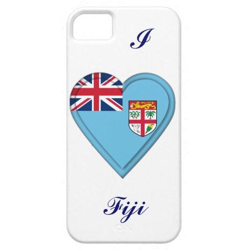 Bandera del Fijian de Fiji iPhone 5 Case-Mate Cárcasas