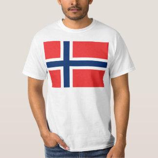 Bandera del flagg de Noruega - de Norges - flagget Playera