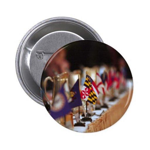 Bandera del foco de Maryland con otros estados Pin