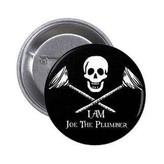 Bandera del fontanero soy Joe el botón del fontane Pin Redondo De 2 Pulgadas