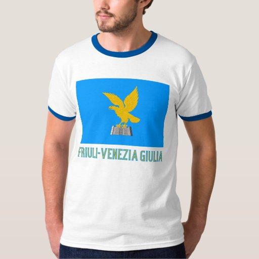 Bandera del Friuli-Venezia Giulia con nombre Remera
