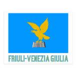 Bandera del Friuli-Venezia Giulia con nombre Postal