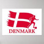 Bandera del fútbol de Dinamarca Impresiones