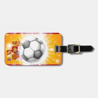 Bandera del fútbol de España Etiqueta Para Maleta