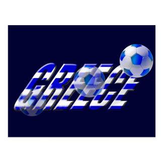 Bandera del fútbol de Grecia del logotipo del Postal