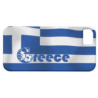 Bandera del fútbol de Grecia iPhone 5 Carcasa