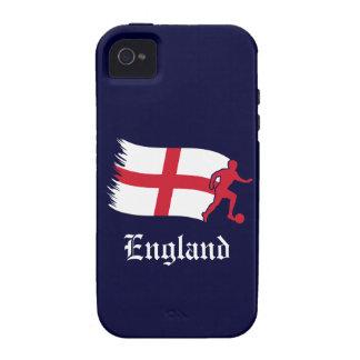 Bandera del fútbol de Inglaterra iPhone 4/4S Carcasas