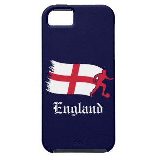 Bandera del fútbol de Inglaterra iPhone 5 Case-Mate Protector