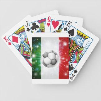 Bandera del fútbol de Italia Baraja Cartas De Poker