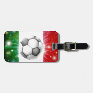 Bandera del fútbol de Italia Etiquetas De Equipaje
