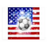 Bandera del fútbol de los E.E.U.U. Postales