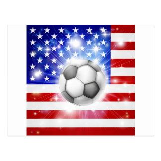 Bandera del fútbol de los E E U U Postales