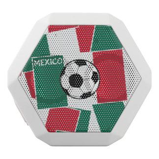 Bandera del fútbol de México Altavoces Bluetooth Blancos Boombot REX