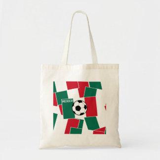 Bandera del fútbol de México Bolsa Tela Barata