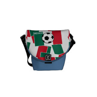 Bandera del fútbol de México Bolsas De Mensajería