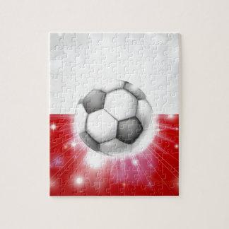 Bandera del fútbol de Polonia Rompecabeza Con Fotos