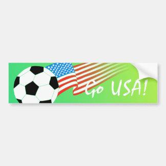 Bandera del fútbol pegatina para auto