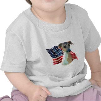 Bandera del galgo italiano camiseta