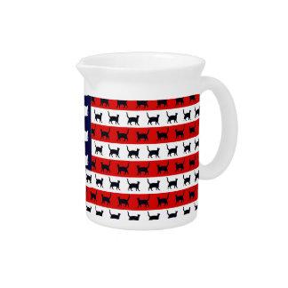 Bandera del gato jarra para bebida