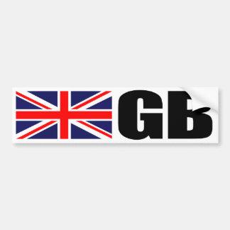 Bandera del GB Etiqueta De Parachoque