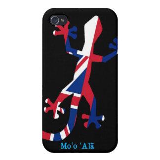 Bandera del Gecko de Hawaii iPhone 4/4S Carcasa