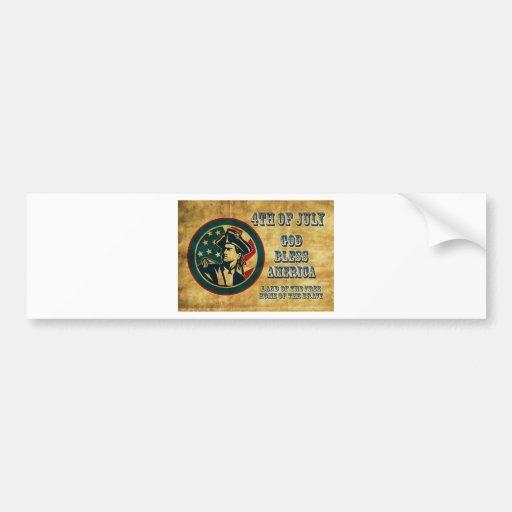 Bandera del general del soldado de la revolución a etiqueta de parachoque