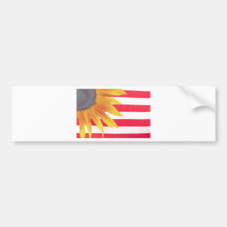 Bandera del girasol pegatina para auto