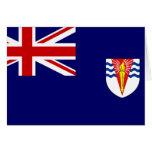 Bandera del gobierno del Territo antártico británi Tarjetas