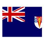 Bandera del gobierno del Territo antártico británi Tarjeta Postal