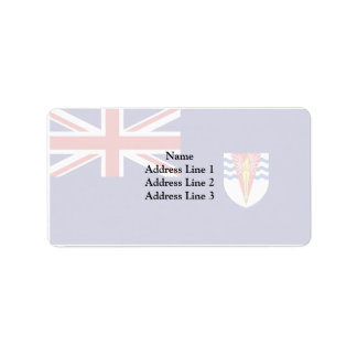 Bandera del gobierno del Territo antártico Etiqueta De Dirección