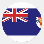 Bandera del gobierno del Territo antártico Etiquetas Redondas